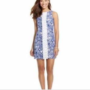 Lilly Pulitzer Target Navy White Embroidered Dress